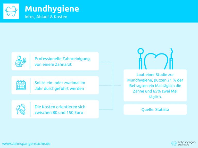 Infografik zur professionellen Mundhygiene
